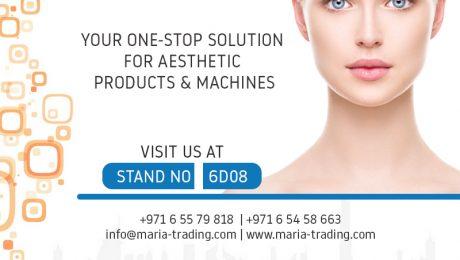 maria trading at Dubai Derma 2018